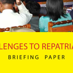 Briefing Paper: Challenges to Repatriation