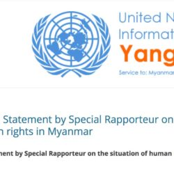 End of Mission Statement by Special Rapporteur on the situation of human rights in Myanmar
