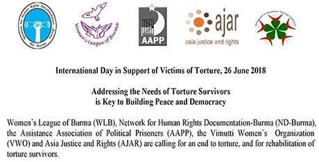 International Day in Support of Victims of Torture, 26 June 2018