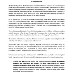 Urgent Statement on Northern Shan State Humanitarian Situation by 346 Civil Society Organizations